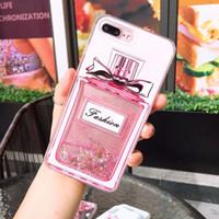 bouteille de parfum star achat en gros de-Modèles d'explosion iphoneXSmax coque de téléphone portable pour Apple X / 6/7/8 bouteille de parfum star glitter XR quicksand shell