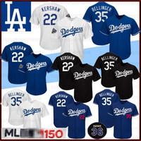 kershaw jersey venda por atacado-22 Clayton Kershaw 150º aniversário de 35 Cody Bellinger Los Angeles Dodgers Baseball Jerseys 10 Justin Turner 5 Seager 42 Robinson 66 Puig