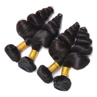 Wholesale Brazilian Loose Wave A Bundles Cheap Human Hair Extensions Unprocessed Virgin Remy Human Hair Bundles Double Weft Bleached Knots Wholesal