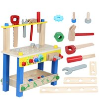 Wholesale kids tool set wood for sale - Group buy Preschool Baby Montessori Toys Kids Wooden Toys Simulation Multifunctional Repair Tool Set Pretend Play Toys For Children Gift