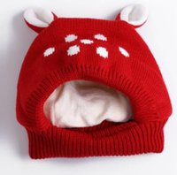 86b29b99942 Children hat wlid outdoor baby New winter warm hat Cartoon Bear knit cap  Red Pink Gray Camel Beige brushed woolen hat 3pcs lot. CAD  21.30 · Winter  baby ...