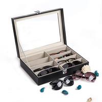 Wholesale storage for watches resale online - Leather Multi Sunglasses Organizer for Women Men Eyeglasses Eyewear Display Case Jewelry Watch Organizer Glasses Storage Holder