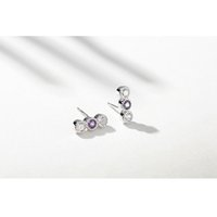 Wholesale 5pcs earring for sale - Group buy 100 Authentic Solid Sterling Silver Fashion Zirconia Stud Earrings For Women