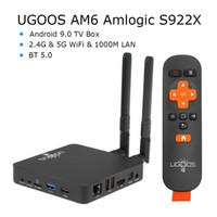 kostenlose arabische fernsehkanäle iptv großhandel-UGOOS AM6 TV-BOX Amlogic S922X Smart Android 9.0 TV-Box DDR4 2 GB 16 GB 2,4 G 5 G WiFi 1000 M LAN Bluetooth 5.0 4 K HD Media Playe