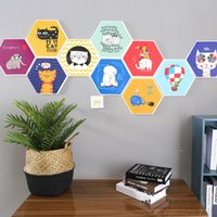 Wholesale wallpaper stickers bedrooms online - Cartoon Animal Wall Sticker Cat Wallpaper Bedroom Bedside Background Decorate Supplies Self Sticking Life Is Better With Friends qrC1