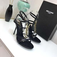 Wholesale sexy high heel pumps resale online - Brand luxury new Sexy shoes Woman Summer Buckle Strap Rivet Sandals High heeled shoes Pointed toe Fashion fashion Single High heel10 cm