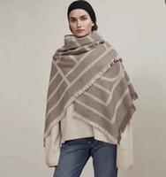 écharpes automne hiver châles achat en gros de-150x35cm luxe concepteur cachemire tricot châle écharpe automne hiver géométrique des femmes meilleur cadeau de Noël BRW