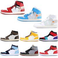 ingrosso couture di scarpe-2019 Nike air jordan retro 1 off white High OG COUTURE scarpe da basket 1s Spiderman UNC top 3 Uomo Homage To Home Bred Banned Toe Uomo Sport Designer Sneakers