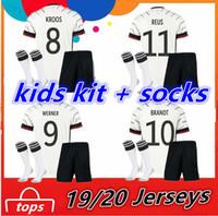 16 ropa de niña al por mayor-2020 2021 camisas de uniforme Alemania Kids Kit + calcetines Inicio Niño Boy ropa de la muchacha del niño menor de Fútbol Soccer Jersey KROOS REUS Kinder Trikot