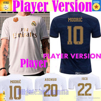 madrid mavi toptan satış-TEHLİKE Oyuncu Sürümü ev beyaz uzakta mavi formalar gerçekten Madrid JOVIC MILITAO camiseta de fútbol 2019 2020 VINICIUS ASENSIO futbol forması