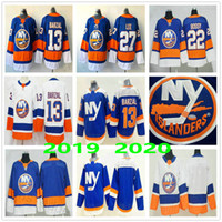 new york islander venda por atacado-2020 New York Islanders # 13 Mathew Barzal 22 Homens Mike Bossy Tavares 27 Anders Lee alternativo azul Mulher Kids Youth Ice Hockey Jerseys