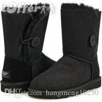 botas altas negras al por mayor-Botas de nieve 5803 Botas de mujer corto Mini Australia Classic Tall botas de invierno rodilla diseñadores Bailey arco del tobillo de Bowtie Negro Gris 36-44