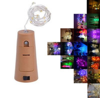 Wholesale flashing christmas glasses resale online - Hot M LED M LED Lamp Cork Shaped Bottle Stopper Light Glass Wine LED Copper Wire String Lights For Xmas Party Wedding