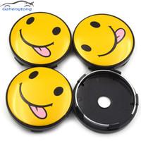 ungezogener plastik großhandel-Gzhengtong 4pc / lot 60mm Frech Emoji Symbol Auto Radmitte Kappen Naben Kappen Emblem