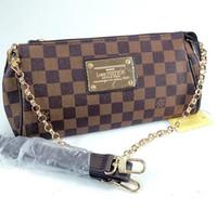 ücretsiz teslimat çantaları toptan satış-201New Avrupa klasik moda marka kalite bayanlar zincir PU deri çanta omuz taşınabilir Messenger çanta üç renk ücretsiz hızlı teslimat