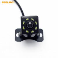 evrensel arka görüş kamerası toptan satış-FEELDO DC12V Evrensel Araba Dikiz Kamera Ile 8-LED Işık Otomatik Geri Yedekleme Kamera # 5121