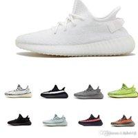 nuevos zapatos largos al por mayor-adidas yeezy 350 V2 off white boost sneakers Zapatillas de deporte de alta calidad 2019 zapatillas en color gris cebra a rayas naranja larga negra zapatillas de calidad roja 5-12