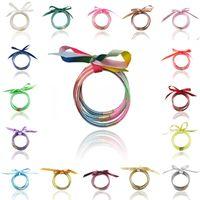 pulseira de geléia charme venda por atacado-201909 Novo Design Hot bowknot Silicone Presente de Natal Bangle menina Glitter Cheio Jelly Rodada Bracelet Mulheres Charme pulseiras moda M568A