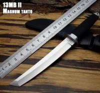 espadas de aço japonês venda por atacado-Aço frio MAGNUM Tanto Lâmina Tai pan 13 D Sobrevivência Fixa Bowie Faca de Caça Guerreiro Japonês Espada Tático Sobrevivência SAN MAi Samurai