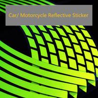 12-дюймовая наклейка оптовых-18 16 14 12 дюймов полосы мотоцикл колеса автомобиля шины наклейки светоотражающий обод Лента мотоцикл авто наклейки