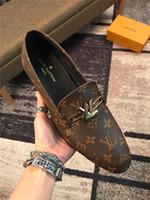 homens sapato sapato venda por atacado-Mocassin Homme Genuine Leather Loafers Sapato Masculino Couro Sapatos Homens Zapatillas Hombre Man Casual Condução Shoes