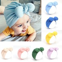 Wholesale newborn babies skull caps for sale - Group buy Europe Infant Baby Girls Hat Cute Bowknot Headwear Child Toddler Kids Beanies Turban Hats Children Knot Hat