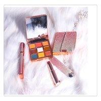 batom de alta qualidade venda por atacado-High-end Starry Sky Series Olhos Maquiagem Set Paleta De Sombra De Glitter De Veludo Nudez Matte Batom Mascara 4d Presentes Set