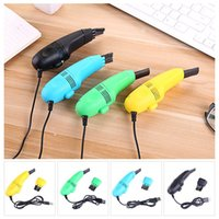 Wholesale mini cleaner for car resale online - Mini Vacuum Cleaner USB Car Interior Air Vent Dust Cleaning Tool Brush Kit For PC Laptop Keyboard Dust Cleaner Collector