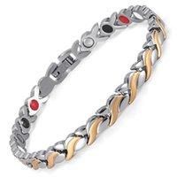 цепи германия оптовых-Женский браслет-браслет Germanium Link Chain Health Магнитный браслет для женщин Биоэнергетические украшения для артрита OSB-1551