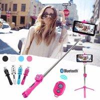 iphone штатив оптовых-Штатив Монопод Selfie Stick Bluetooth с кнопкой Selfie Stick для ОС Android для Iphone 6 7 8 Plus IOS