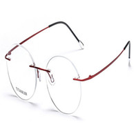 be1a989984 MONGOTEN Fashion Unisex Fashion Pure Titanium Rimless Clear Lens Myopia Eyewear  Frame Gold Silver Optical Eyeglasses Spectacle