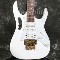 ingrosso chitarre elettriche fiore-Starshine DK-7VW chitarra elettrica Floyd Rose Brige fiore intarsio hardware oro pickup Dmarzio stile JEM