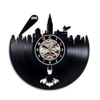 batman relógios de parede venda por atacado-Batman Gotham City Logo Melhor Relógio De Parede - Decorar Sua Casa Com Arte Moderna Grande Super-Herói - Presente Para Amigo, Homem E Menino