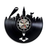 ingrosso migliori arti moderne-Batman Gotham City Logo Miglior orologio da parete - Decora la tua casa con la moderna grande arte dei supereroi - Regalo per amico, uomo e ragazzo