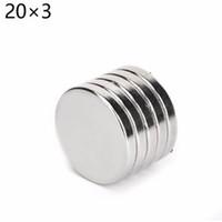 neodimyum mıknatıslar x 3mm toptan satış-10 adet 20mm x 3mm N35 Mini Süper Güçlü Nadir Toprak Buzdolabı Permanet Mıknatıs 20 * 3 20x3 Küçük Yuvarlak Neodimyum Mıknatıs