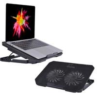 kühler für laptop großhandel-Einstellbare Laptop Cooler USB Zwei Kühlventilator für 11-15,6