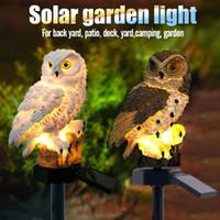 ingrosso pali solari del cortile solare-Luci da giardino a LED a forma di gufo Lampada da palo a energia solare Lampada da giardino a energia solare Lampada da giardino decorativa da esterno