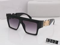 lentille claire lunettes uv achat en gros de-Summer style italie marque medusa lunettes de soleil VE4362 femmes hommes marque designer protection uv lunettes de soleil lentille claire et revêtement lentille sunwear