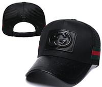 sombrero de enfriamiento negro al por mayor-Moda Gorra de béisbol Hombres Mujeres Diseñador al aire libre Deportes de lujo Gorras de malla Hip Hop Ajustable Snapback Patrón fresco Camión Sombrero negro blanco