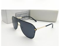 дизайнер солнцезащитные очки женщина поле оптовых-Новый стиль 2019 Versace медузы солнцезащитные очки полукадра женщины мужчины бренд дизайнер уф-защита солнцезащитные очки прозрачный объектив и оригинальная коробка