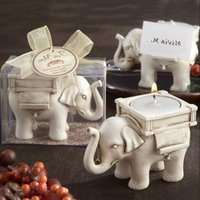 Wholesale Lucky Elephant Candles Holder Tea Light Candles Holder Wedding Birthday gifts with tealight LX5673