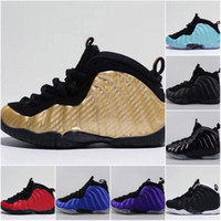 Wholesale basket girls resale online - Youth Pro Metallic Gold Dr Doom Royal Kids Basketball Shoes Girl Boy sports training Basket Ball Trainers Shoes Sport sneakers C Y