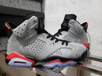 bunny kutuları toptan satış-6 s JSP 3 M Yansıtıcı Kızılötesi Bugs Bunny Basketbol Ayakkabı Erkekler 6 CI4072-001 Kutusu Ile 6 Gümüş Siyah Kızılötesi Spor Sneakers Yüksek Kalite