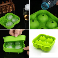 Wholesale brick made resale online - Home Make Ice Maker Mold Large Diameter Silicone Big Ice Membrane Ice Ball Mould Party Brick Round Mould Bar Accessories WY111Q