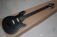 e-gitarre schwarzer tremolo großhandel-Freier Verschiffen-Qualitäts-Schwarz-Wolfgang-elektrische Gitarre Ebenholz Griffbrett Floyd Rose Tremolo-Gitarre