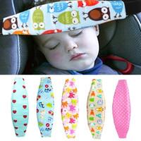 Wholesale car supports resale online - Car Safety Seat Sleep Positioner Infants And Baby Head Support Pram Stroller Fastening Belt Adjustable