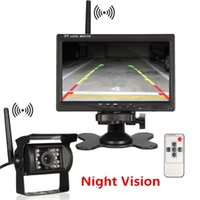 Wholesale car reverse parking camera wireless online - 7 inch Wireless Car Monitor LCD display screen with LED Night Vision Rear View reverse Parking Camera for Truck car dvr