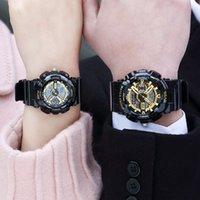 uhren wasserdicht stoßfest großhandel-Paar elektronische Uhr neue Art Digital-Männer Frauen Sport wasserdicht stoßfest weibliche Uhr Uhren Armbanduhr Dame LED