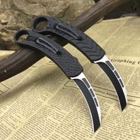 cuchillo de garra d2 al por mayor-NUEVA BM Karambit cuchillo de la garra de aves D2 mango de aluminio hoja de acampar en frío de acero automático de cuchillas de doble acción EDC supervivencia AUTO cuchillo C07 UTX 85