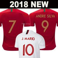 aaa maillots de football de qualité achat en gros de-2018 maillot de Portugal football soccer jersey football shirts RONALDO ANDRE SILVA coupe du monde PEPE J.MARIO QUARESMA BERNARDO NANI EDER équipe nationale meilleure AAA Thaïlande qualité